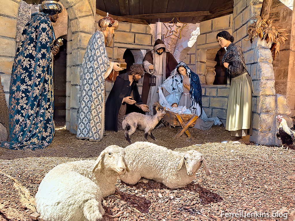 Nativity scene at Bethlehem. Photo: Ferrelljenkins.blog.