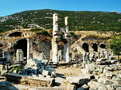 Domitian Square, Ephesus. Ferrelljenkins.blog.