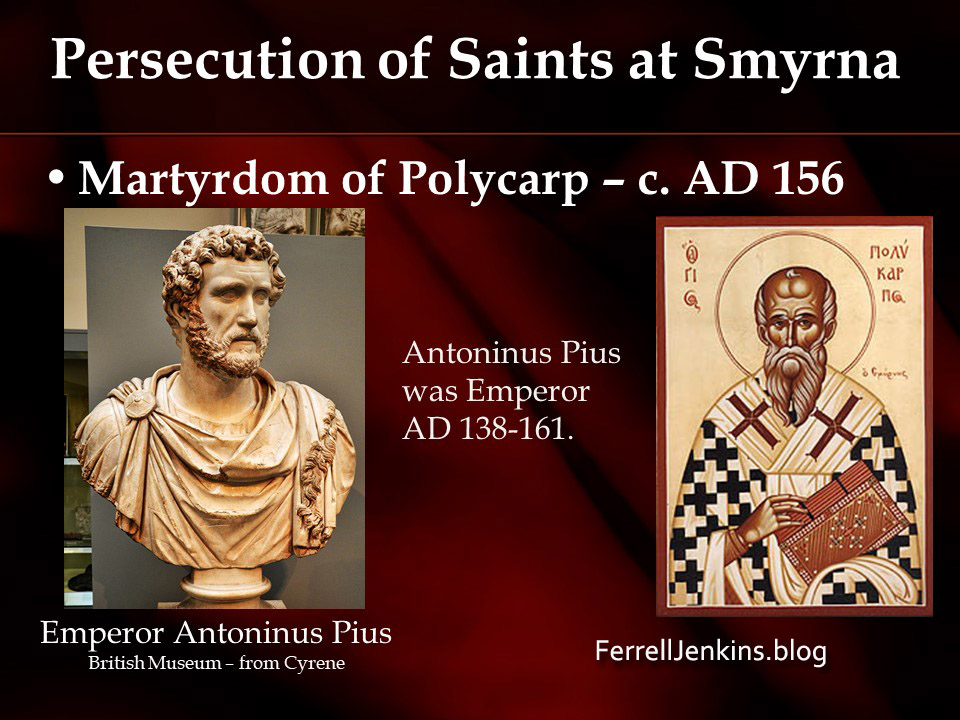 Persecution of Christians at Smyrna. Photo: ferrelljenkins.blog.